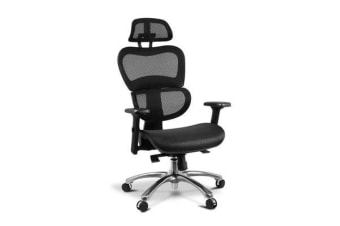Artiss Executive Deluxe Office Mesh Chair Net High Back Home School Gaming Black Seat