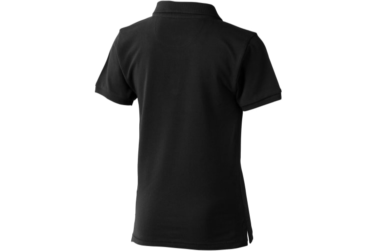 Elevate Childrens/Kids Calgary Short Sleeve Polo (Solid Black) (H140cm)