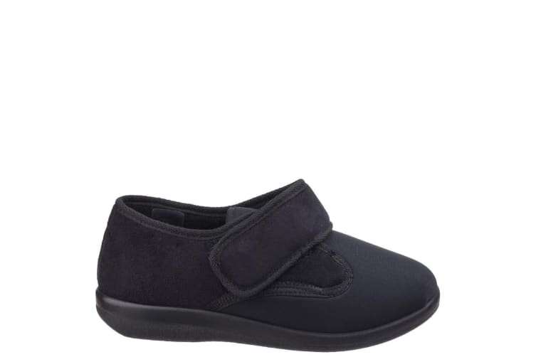 Great British Slippers Frenchay Ladies Classic Slippers (Black) (40 EUR)