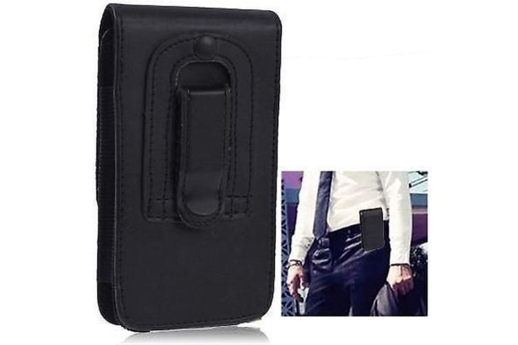 For iPhone SE 5S 5 Case  Leather Clip Durable Shielding Cover Black