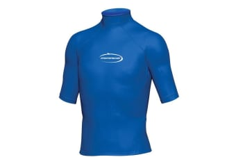 Mirage Junior Lycra Rash Short Sleeve Shirt 8 Blue