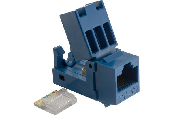 Platinum Tools Ez-Snapjack Cat5E Blue Socket