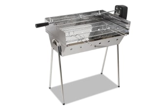Portable Spit Roaster with 3V Rotisserie