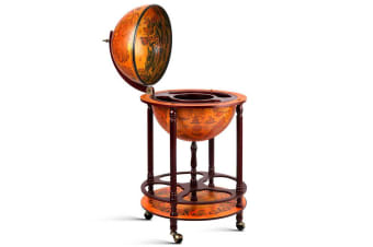 Artiss Antique Globe Bar Cart Drinks Trolley Wine Mini Cabinet Alcohol Serving Party