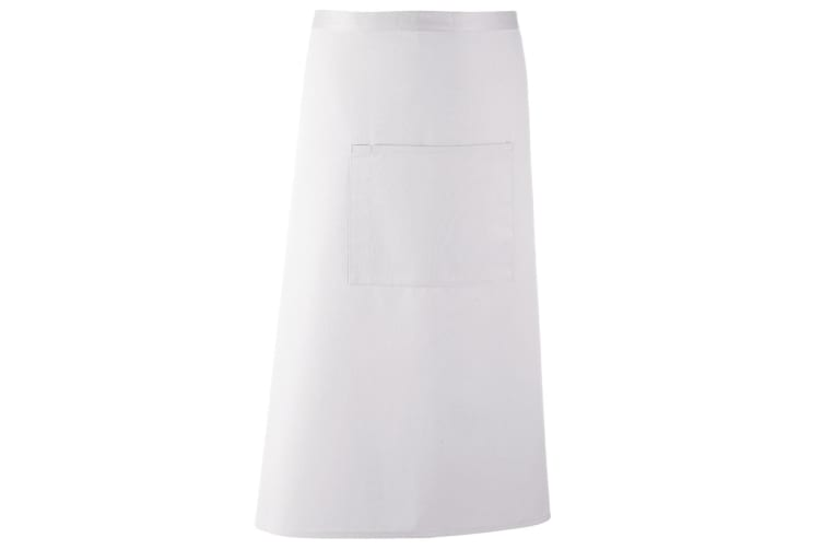 Premier Ladies/Womens Bar Apron / Workwear (White) (One Size)