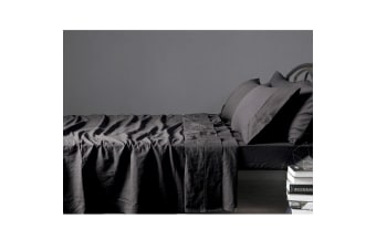 100% Linen Slate Sheet Set KING