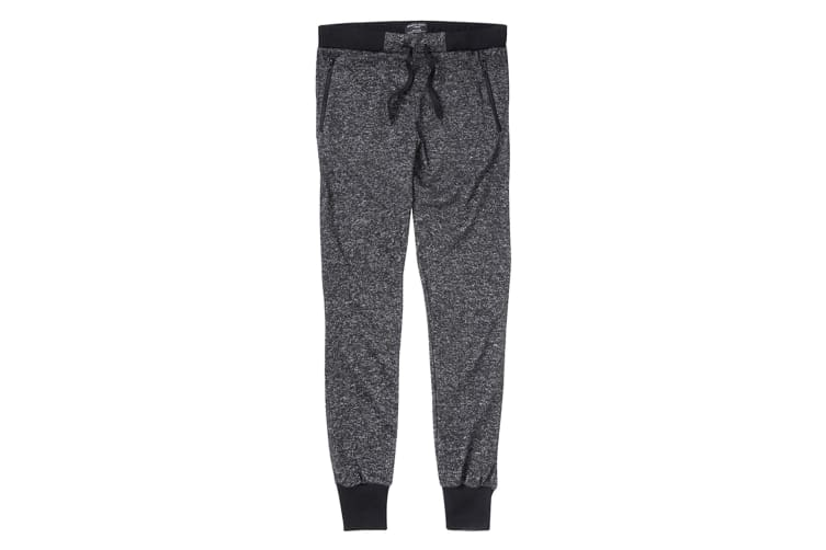 Brave Soul Mens Dynasty Contrast Jogging Bottoms (Black) (M)