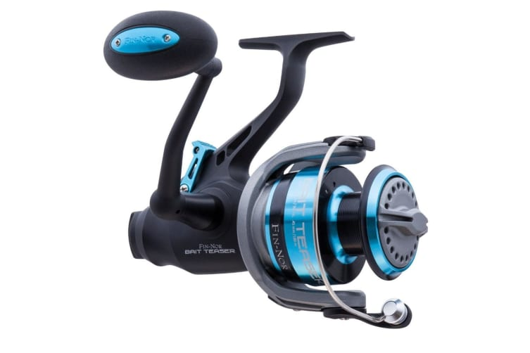 Fin-Nor Bait Teaser 80 Spinning Reel with Front and Rear Drag - Free Spooler Reel