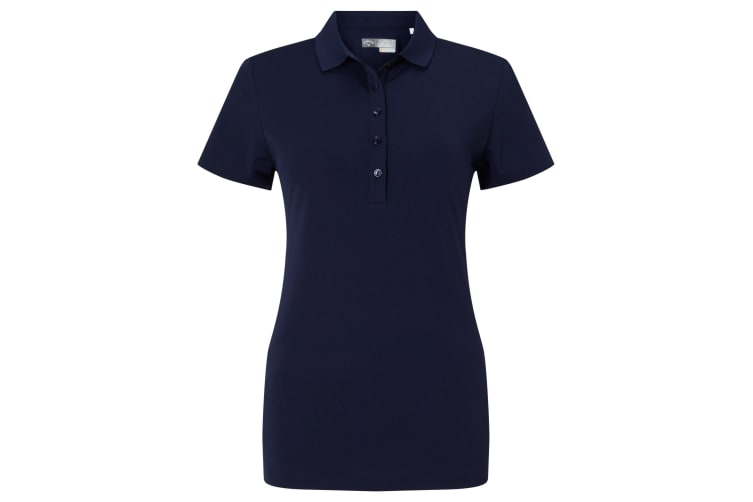 Callaway Womens/Ladies Micro Hex Polo Shirt (Peacoat) (S)