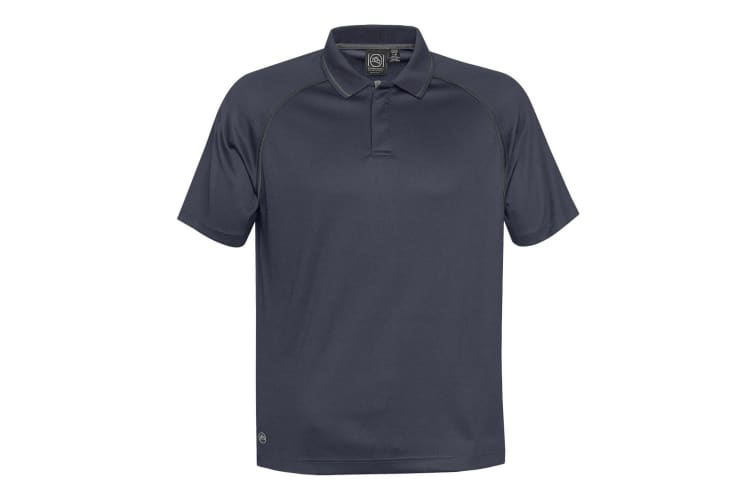 Stormtech Mens Tritium Performance Polo (Navy/Carbon) (XL)