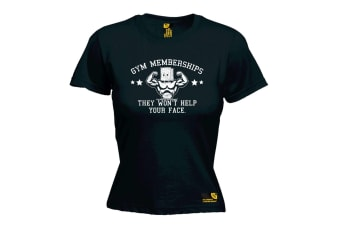 SWPS Gym Bodybuilding Tee - Memberships They Wont Help - Black Womens T Shirt