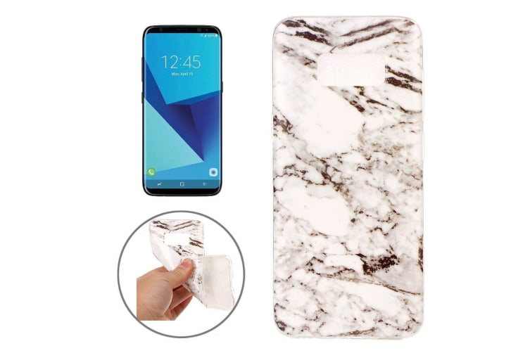 For Samsung Galaxy S8 Case Elegant Marble Pattern Durable Protective Cover White