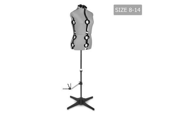 Adjustable Mannequin Cloth Display Tailor Dressmaker (Grey)