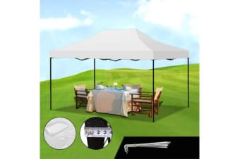 3x4.5m Pop Up Outdoor Folding Tent Canopy WHITE