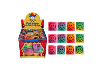 Henbrandt 3.5cm Smiley Face Rainbow Springs (Pack Of 60) (Multicoloured)