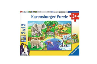 Ravensburger Animal in the Zoo Puzzle - 2 x 12 Piece