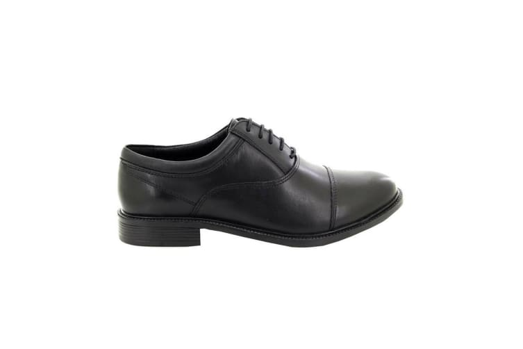 Roamers Mens Fuller Fitting Capped Leather Oxford Shoes (Black) (13 UK)