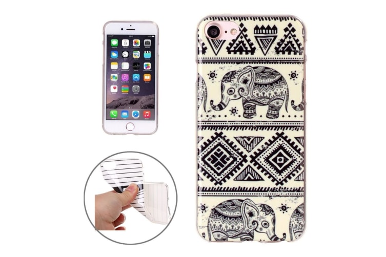 For iPhone 8 7 Case Stylish Abstract Elephants Grippy Durable Protective Cover