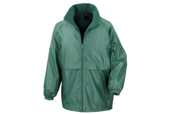 Result Mens Core Adult DWL Jacket (With Fold Away Hood) (Bottle Green) (M)