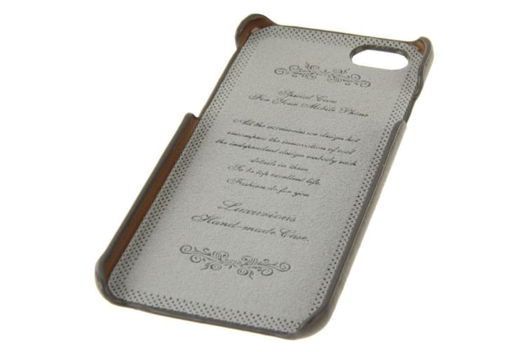 For iPhone 6S PLUS 6 PLUS Fashion Gray Genuine Cow Leather Case Card Slot
