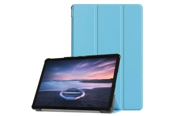 For Samsung Galaxy Tab Case S4 10.5in Blue Custer Texture PU Leather Folio Cover