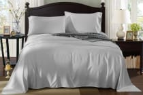 Royal Comfort 100% Natural Bamboo Bed Sheet Set (Silver)