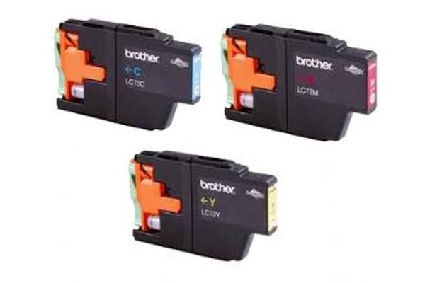 Brother LC73 Colour Value Pack 1x Cyan, 1x Magenta, 1x Yellow