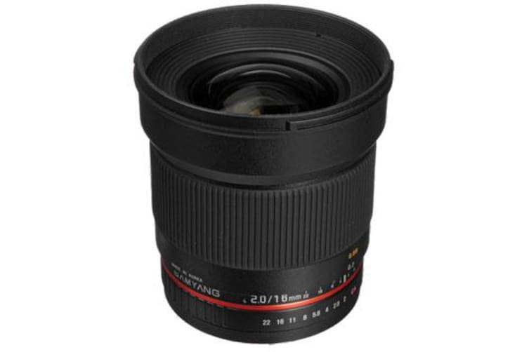 New Samyang 16mm f/2.0 ED AS UMC CS (Canon) (FREE DELIVERY + 1 YEAR AU WARRANTY)