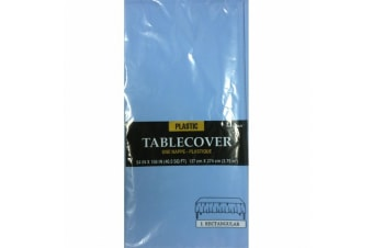 Amscan Plastic Rectangular Solid Colour Party Tablecover (Pastel Blue)