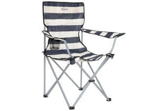 Trespass Branson Folding Camping Chair With Carry Bag (Navy Stripe)