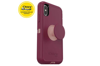 OtterBox Otter+Pop Defender Rugged Drop Proof Case w/Pop Grip for iPhone X/Xs RD
