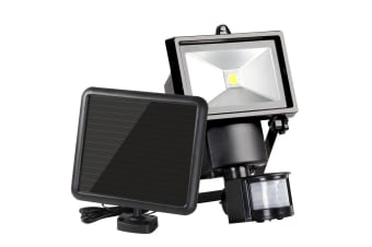 Set of 2 5W COB LED Solar Sensor Light Outdoor Security Floodlights Garden Motion