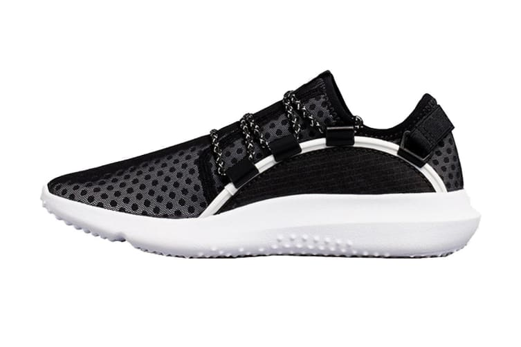 Under Armour Women's RailFit 1 Running Shoe (Black/White, Size 8)