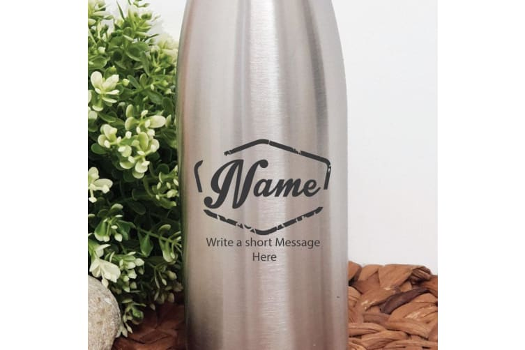 Personalised Engraved Stainless Steel Drink Bottle - (M)
