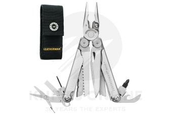 NEW LEATHERMAN WAVE PLUS + STANDARD STAINLESS STEEL MULTITOOL + SHEATH