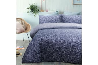 Andes Navy Quilt Cover Set by Big Sleep
