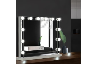 Embellir Hollywood Makeup Mirror With Light 12 LED Bulbs Vanity Lighted 58x46CM