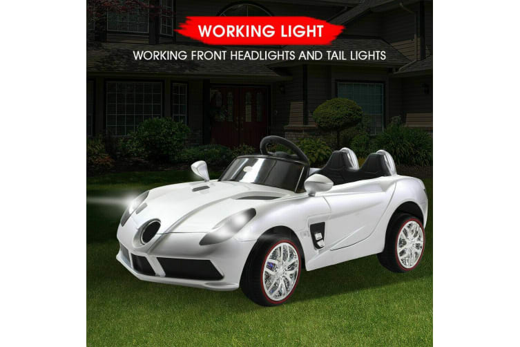 Bopeep 12V Kids Electric Ride on Jeep Toys Car Off Road Remote Control Silver AU
