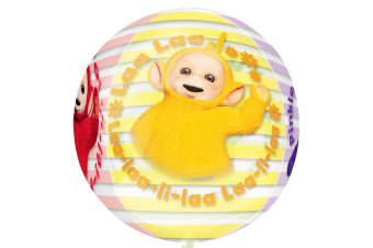 Anagram Supershape Orbz Clear Teletubbies Balloon (Clear/Multicoloured)