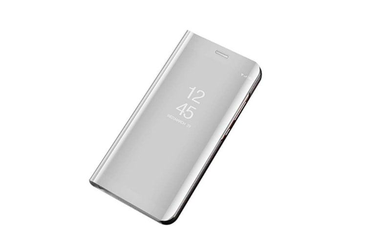 Mirror Case Translucent Flip Full Protection Mobile Phone Stand For Huawei Silver Huawei Y6Prime(2018)
