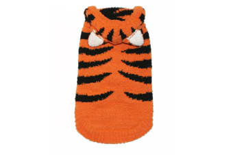 Hip Doggie Chenille Tiger Dog Hoodie (Orange)