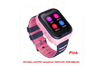 4G Kids Smart Watch Support Bluetooth Connect-Pink