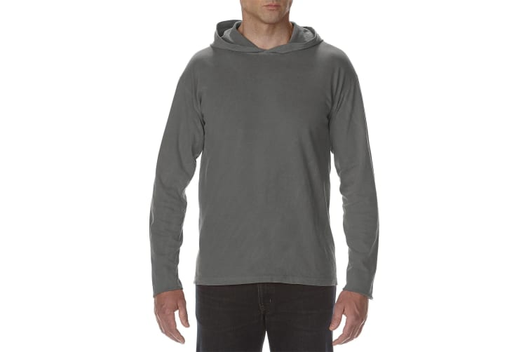 Comfort Colors Unisex Adults Heavyweight Hooded Tee (Pepper) (XL)