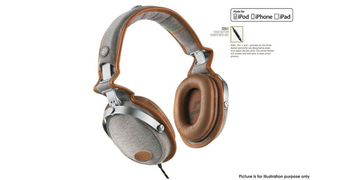 Rise Up Saddle Over Ear Headphones w/ 3 Button Remote Mic for Apple | Over  & On-Ear Headphones |