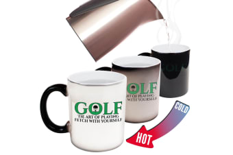 123T Funny Colour Changing Mugs - Golf The Art Of Playing Fetch