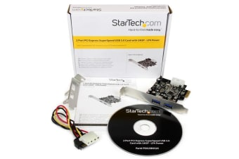 StarTech.com 2 Port PCI Express (PCIe) SuperSpeed USB 3.0 Card Adapter with UASP