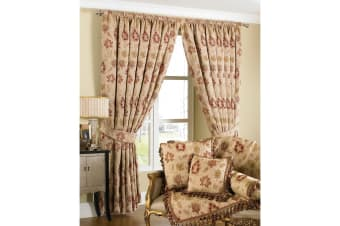 Riva Home Zurich Pencil Pleat Curtains (Champagne)