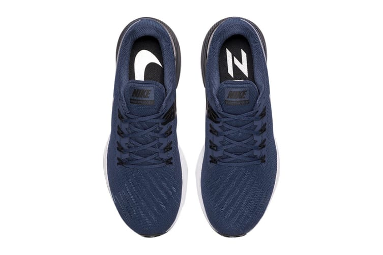 Nike Men's Air Zoom Structure 22 Shoes (Blue/Black/White, Size 9.5 US)