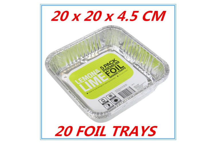 20 x Aluminum Foil Trays BBQ Disposable Roasting takeaway Oven Baking Party NO lids