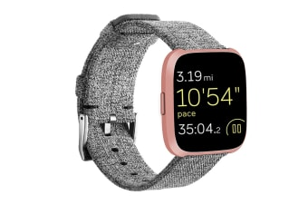Newest Lightweight Breathable Woven Wristband Watch Band for Fitbit Versa Smart Watch Grey
